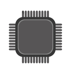 Simple cpu icon vector