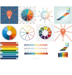 Set templates infographic 9 positions vector