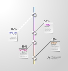 Abstract business infographics design element vector image