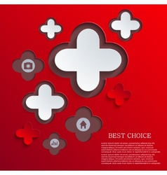abstract cross background vector image