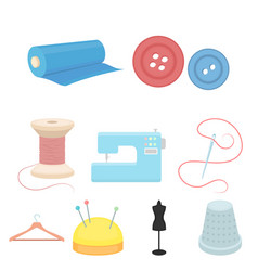 atelie set icons in cartoon style big collection vector image vector image