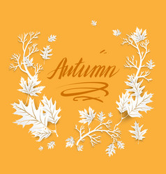Autumn image with leaves vector