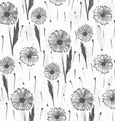 Background with dandelions vector image