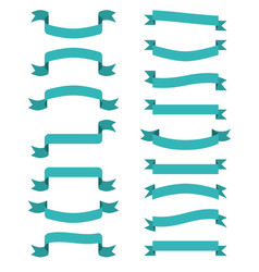 Blue scroll banners wavin ribbons vector