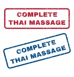 Complete thai massage rubber stamps vector