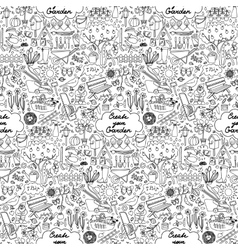 Create your Garden Seamless Pattern vector image