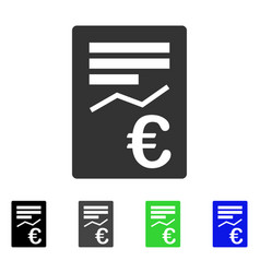 Euro report flat icon vector