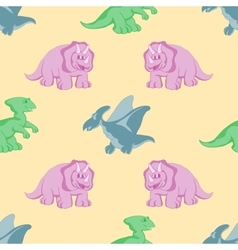 Funny dinosaurs seamles background vector