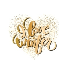 Graphic winter heart vector image vector image
