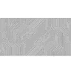 Grey abstract background with hi-tech circuit vector image