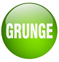 Grunge green round gel isolated push button vector