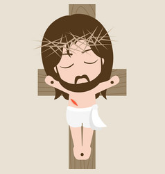 Messiah on the cross vector