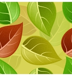 modern seamless colorful leaf pattern vector image
