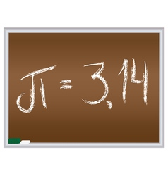 number pi vector image vector image