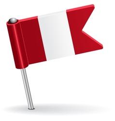 Peru pin icon flag vector