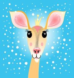 Portrait of a deer vector