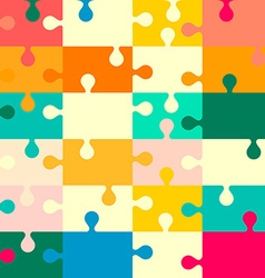 Puzzle Seamless Retro Background vector image vector image