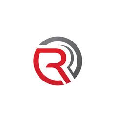 r letter logo template design vector image