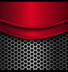 red metal plates vector image