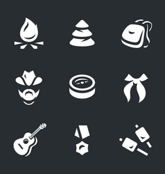 Set of scouting icons vector