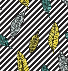 Simple seamless tropical jungle floral pattern vector