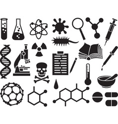 Chemical icon set vector