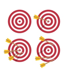 icon target set vector image