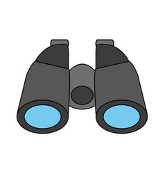 Color silhouette cartoon binocular field glasses vector