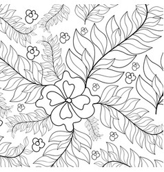 Hand drawn ornament for adult anti stress vector