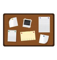 Wooden bulletin board vector