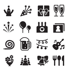 Celebration party icon set vector