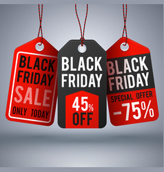 Black friday shopping background with paper vector