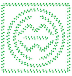 Pattern brush from green leaves vector