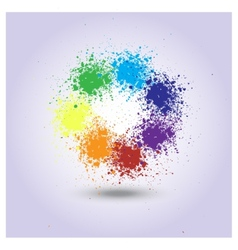 Rainbow of paint spray vector