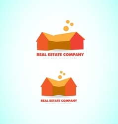 Real estate house home logo vector
