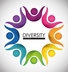 Diversity people design eps 10 vector