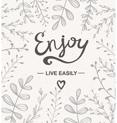 Background with herbs Hand drawn artwork Enjoy vector image
