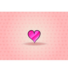 sweet heart on the background vector image