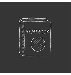 Yearbook Drawn in chalk icon vector image