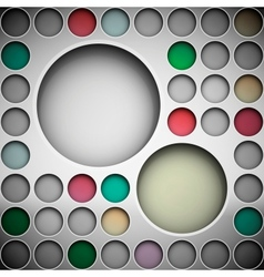 Background with circles for text vector image