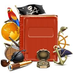 Pirate book vector