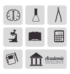 Academic education and elearning vector