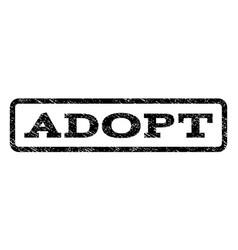 Adopt watermark stamp vector