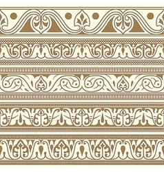 Arabic seamless borders vector image