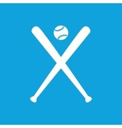 Baseball icon simple vector image vector image