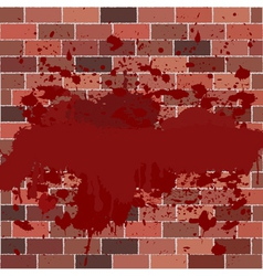 bricks full of blood vector image