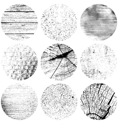Circle Texture Set vector image