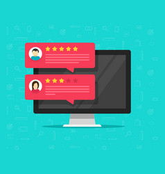 Computer and customer review rating messages vector