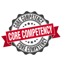 core competency stamp sign seal vector image vector image
