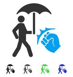Crime coverage flat icon vector